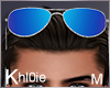 K silv blue sunglasses M