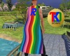 TK-Rainbow Man Cape