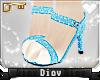 *D* Blue Glitter Heels