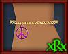 Ankle Chain Peace Purple