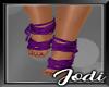 Purple Laced Feet