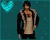 Black Suede/Leopard Fur
