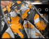 Orange camo cargos