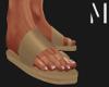 T+M   Camel Sandals