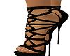 Black Satin Spike Heel