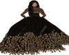 bronze feather gown
