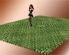 green woven floor