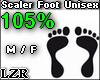Scaler Foot Unisex 105%
