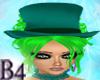 *B4* Green BurlesqueHat