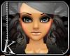 [K] Charcoal Chiyo Hair