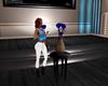 Blue Animated Rose Vase