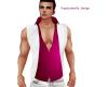 plum shirt white vest