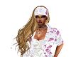 whitem pink scarf w hair