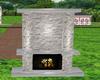 add on fireplace grey