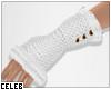 !© Knit Gloves White