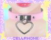 heart collar (pink) ❤