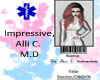 Dr. Alli's ID Badge