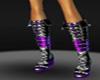 {DD} sexy purple boots