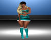 Teal Xmas Fit Boots