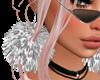 Silver Pom-Pom Earrings