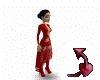 Devil~ long red dress