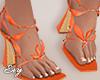 Orange Petal Heels