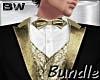 Blk Gold White Tx Suit B