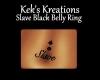 Slave Black Belly Ring