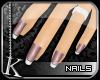 [K] Rose Ice Tip Nails