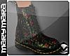 m> Floral Boots