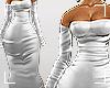 ṩSatin Dress white