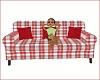 christmas plaid sofa