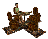 Steampunk folding chairs