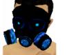LED Blue Gas Mask