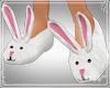 !Bunny slippers white pk