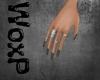 W| Grey Nails & Rings