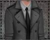 Long Trench Coat - Gray