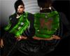Green Moncler Vest w/blk