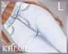 K light blue jeans L