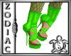 Green Net Heels