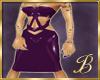 latex dress purple
