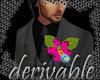 *S* Orchid Buttonhole