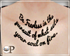 Be Fearless Chest Tattoo