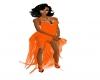 (Zg) Orange Dress