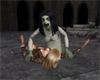Scary zombie woman anim