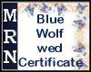 BlueWolf Wed Certificate