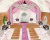 pink wedding open church
