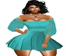 RLL TEAL MINI SKIRT