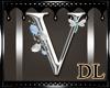 silver letter V