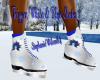 Trig White&Blue Skates